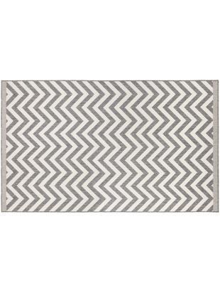 Dwustronny dywan wewnętrzny/zewnętrzny Palma, Szary, kremowy, S 80 x D 150 cm (Rozmiar XS)