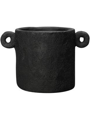 Osłonka na doniczkę Charcoal, Cement, Czarny, Ø 30 x W 20 cm