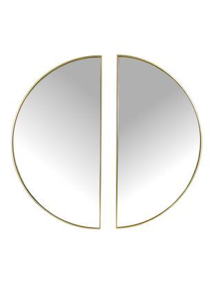 Okrągłe lustro ścienne Michael, 2 elem., Odcienie mosiądzu, S 40 x W 79 cm