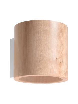 Applique Roda, Legno, Marrone chiaro, Ø 10 x Alt. 12 cm