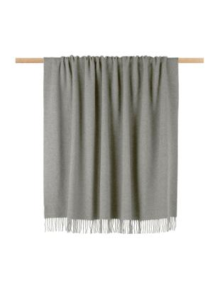 Manta de cachemira Liliana, 80%lana, 20%cachemir, Gris, An 130 x L 170 cm