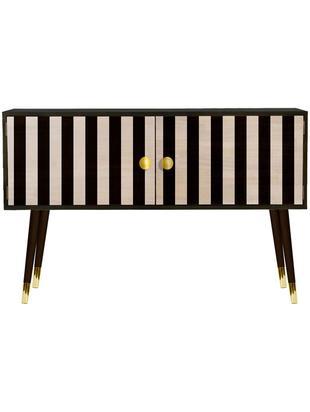 Cómoda Stripes, Patas: madera de pino pintada co, Multicolor, An 115 x Al 74 cm