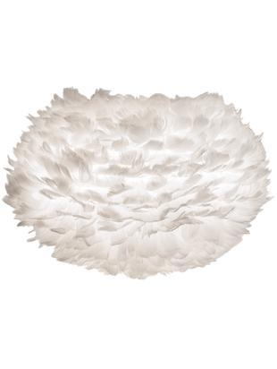 Pantalla de plumas  Eos, Plumas de ganso, acero, Blanco, Ø 45 x Al 30 cm