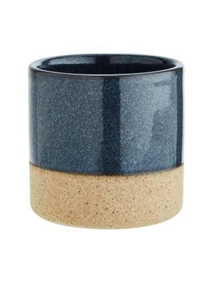 Macetero Tone, Gres, Azul oscuro, beige, Ø 8 x Al 8 cm