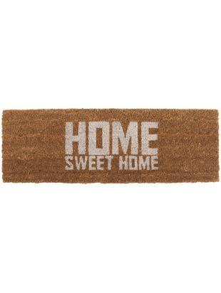 Deurmat Home Sweet Home, Kokosvezels, Bruin, wit, 26 x 77 cm