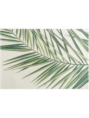 In- & Outdoor-Teppich Capri Palm mit Palmenblattmotiv, Polypropylen, Grün, Beige, B 80 x L 150 cm (Größe XS)