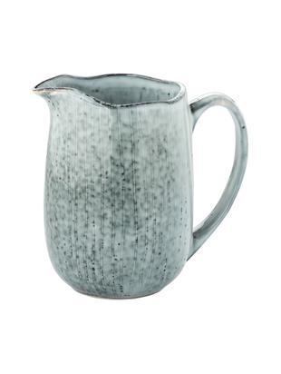 Lechera artesanal Nordic Sea, Gres, Tonos de gris y azul, An 17 x Al 16 cm