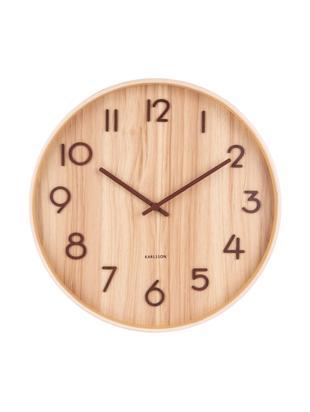 Orologio da parete Pure, Legno, Beige, marrone, Ø 40 cm