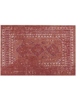 Ręcznie tkany dywan szenilowy Rebel, Rudy, kremowy, czerwony, S 120 x D 180 cm