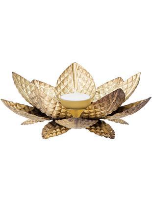 Portalumini Lotus, Metallo rivestito, Ottonato, Ø 20 x Alt. 7 cm