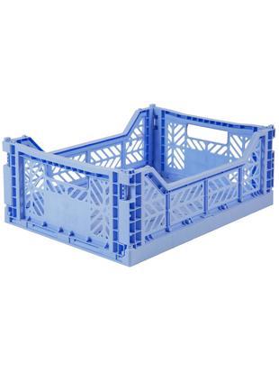 Cesta media pieghevole ed impilabile Baby, Materiale sintetico riciclato, Azzurro, Larg. 40 x Alt. 14 cm
