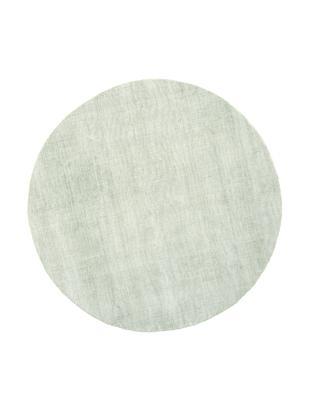 Runder Viskoseteppich Jane, handgewebt, Flor: 100% Viskose, Mintgrün, Ø 120 cm (Größe S)