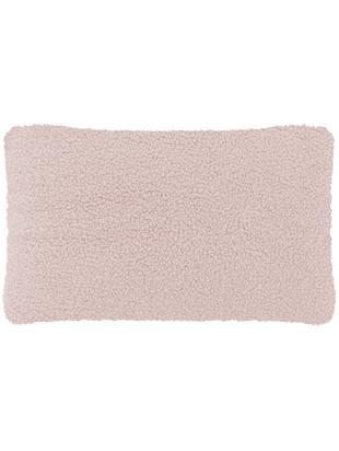 Flauschige Teddy-Kissenhülle Mille, Vorderseite: 100% Polyester (Teddyfell, Rückseite: 100% Polyester (Teddyfell, Rosa, 30 x 50 cm