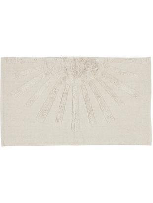Tappeto in cotone con motivo a rilievo Sun