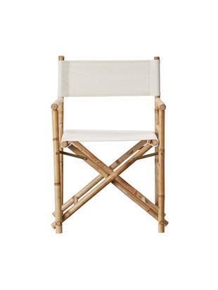 Sedia regista pieghevole in bambù Mandisa, Struttura: legno di bambù, finitura , Rivestimento: lino, Bambù, lino leggero, Larg. 58 x Alt. 88 cm