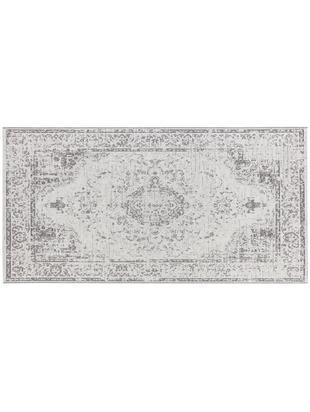 In- und Outdoor Teppich Cenon im Vintage Style, Polypropylen, Creme, Grau, B 80 x L 150 cm (Größe XS)