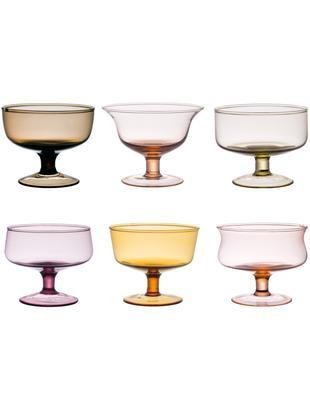Set di ciotole in vetro soffiato Desigual, 6 pz., Vetro soffiato a bocca, Multicolore, Ø 12 x A 8 cm