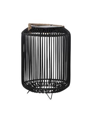 Zewnętrzna lampa solarna LED Sunlight, Metal, tworzywo sztuczne, juta, Czarny, juta, Ø 34 x W 34 cm