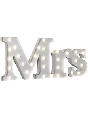 LED Leuchtobjekt Mrs, Metall, pulverbeschichtet, Weiss, 71 x 31 cm