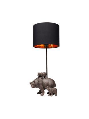 Lámpara de mesa Bear Family, Cable: plástico, Negro, An 23 x Al 60 cm