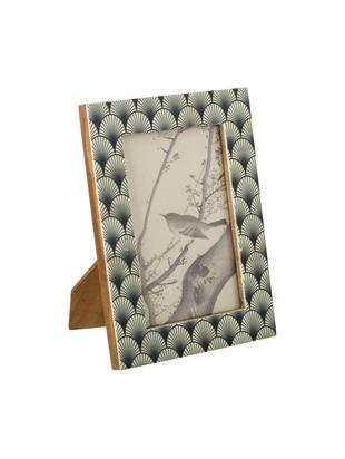 Bilderrahmen Buffalo, Rahmen: Büffelknochen, Front: Glas, Rückseite: Mitteldichte Holzfaserpla, Schwarz, Weiß, 10 x 15 cm