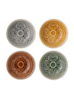 Ręcznie wykonany komplet miseczek Rani, 4 elem. , Kamionka, Wielobarwny, Ø 9 cm