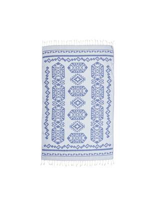 Fouta Caya, Jasny niebieski, jeansowy niebieski, S 90 x D 160 cm