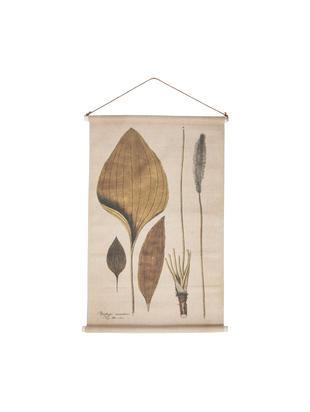 Dekoracja ścienna Plantago, Len, Wielobarwny, S 60 x W 90 cm