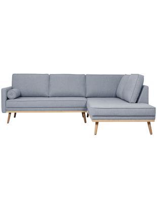 Divano con chaise-longue Saint (3 posti), Rivestimento: poliestere 50.000 cicli d, Struttura: legno di pino massiccio, , Tessuto blu-grigio, Larg. 243 x Alt. 70 cm