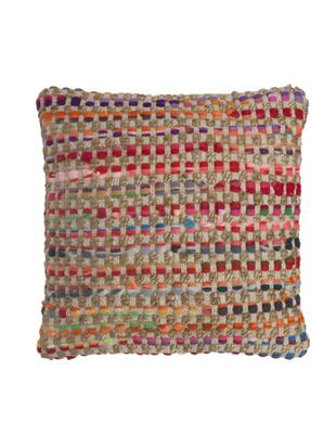 Poszewka na poduszkę Cando, Juta, wielobarwny, S 45 x D 45 cm
