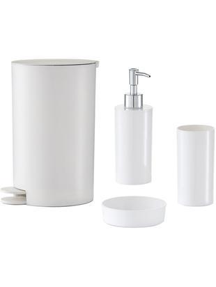 Set de accesorios de baño Nika, 4pzas., Plástico, Blanco, Tamaños diferentes
