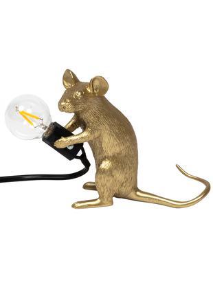 Design Tischleuchte Mouse, Goldfarben, 5 x 13 cm