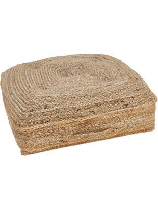 Cuscino da pavimento in iuta Ural, Retro: cotone, Iuta, Larg. 60 x Lung. 60 cm