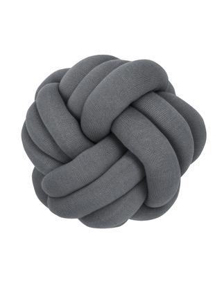 Knoten-Kissen Twist, Dunkelgrau, Ø 30 cm