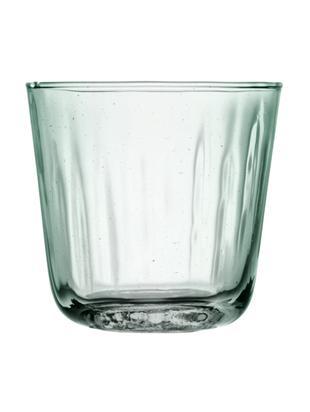 Bicchiere acqua  Mia 4 pz, Vetro riciclato, Turchese trasparente, Ø 9 x Alt. 8 cm