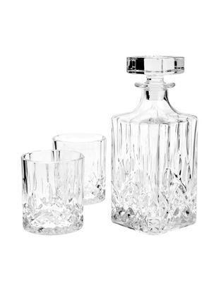 Whisky-Set George, 3 tlg., Glas, Transparent, Ø 8 x H 22 cm