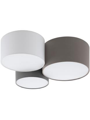 Plafondlamp Pastore, Diffuser: kunststof, Bruin, grijs, wit, Ø 61 x H 26 cm