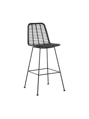 Krzesło barowe Sola, Stelaż: metal malowany proszkowo, Czarny, S 56 x W 98 cm