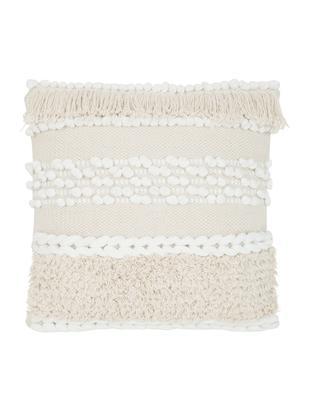 Kussenhoes Anoki, 80% katoen 20% polyester, Ecru, wit, 45 x 45 cm