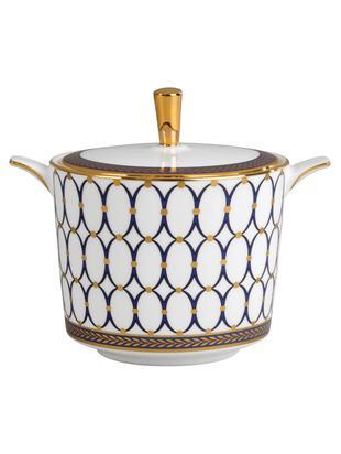 Zuckerdose Renaissance Gold, Weiss, Blau, Gold, Ø 7 x H 8 cm
