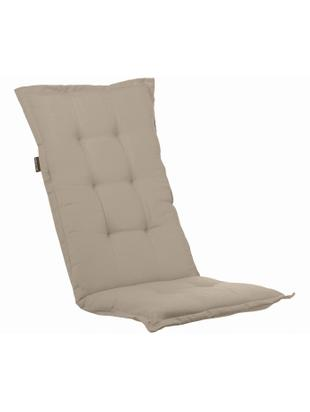 Einfarbige Hochlehner-Stuhlauflage Panama, Bezug: 50% Baumwolle, 50%Polyes, Sandfarben, 50 x 123 cm