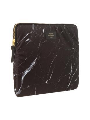 Copertina Marble per MacBook Pro 13 pollici, Laptop case: nero, marmo<br>Sovrastampa: nero con carattere dorato, Larg. 34 x Alt. 25 cm