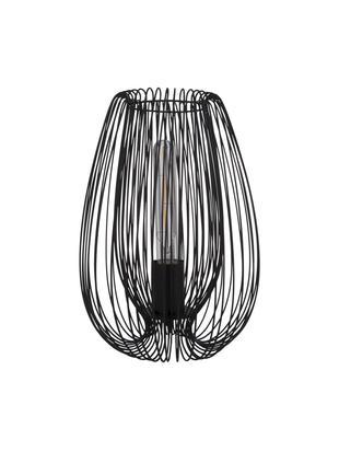 Retro-Tischleuchte Lucid, Leuchte: Metall, lackiert, Schwarz, Ø 22 x H 33 cm