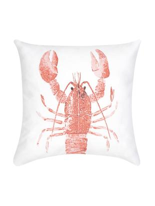 Poszewka na poduszkę Homard, Bawełna, Czerwony, biały, S 40 x D 40 cm