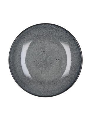 Platos llanos Mirha, 4uds., Gres, Gris oscuro, Ø 27 cm