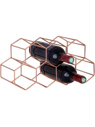 Weinregal Hexagon, Metall, Kupfer, 37 x 16 cm