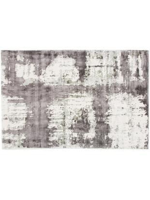 Viskoseteppich Lizzy, Flor: 100% Viskose, Creme, Grau, Dunkelgrau, B 120 x L 180 cm (Grösse S)