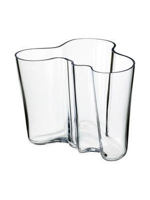 Vaas Alvar Aalto, Glas, Transparant, H 16 cm
