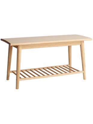Ławka z drewna bambusowego Noble, Drewno bambusowe, piaskowane i olejowane, Drewno bambusowe, 90 x 45 cm