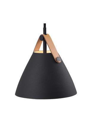 Lámpara de techo Strap, Pantalla: metal con pintura en polv, Anclaje: plástico, Negro, Ø 16 x Al 17 cm
